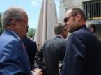 auto-schweiz-Präsident François Launaz im Gespräch mit Jürg Röthlisberger, Direktor des Bundesamt für Strassen ASTRA.