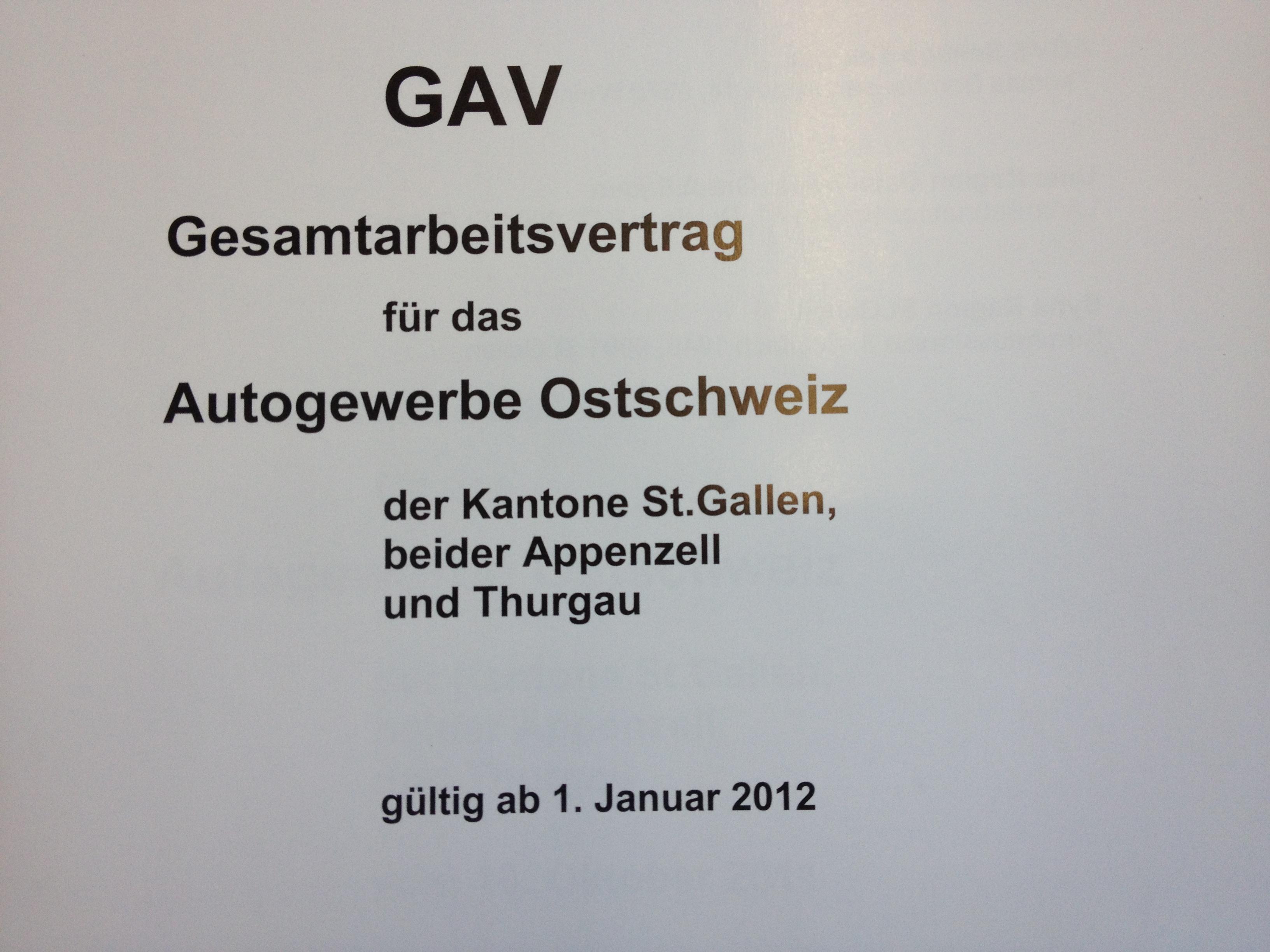 GAV Ostschweiz